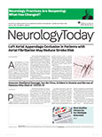 July 22, 2021 Neurology Today cover