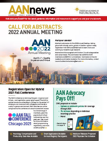 August 2021 cover of AANnews