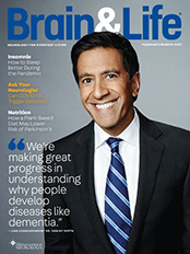 Cover of Brain and Life Magazine with Dr. Sanjay Gupta on the cover.