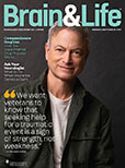 August/September 2021  issue of Brain & Life Magazine featuring Gary Sinise on the cover.
